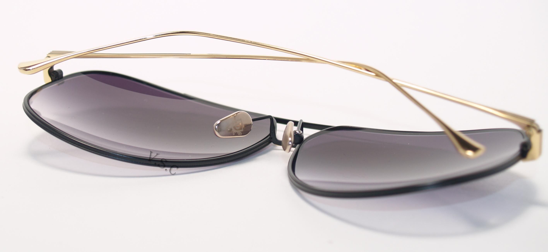 c44596cdfc1a Dita Condor Sunglasses 21005D Authentic Grey Gradient Gold Black New ...