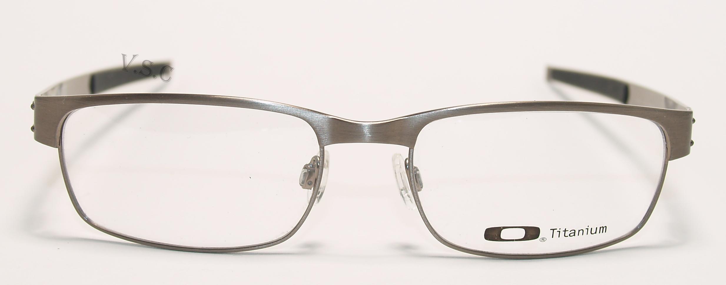 oakley metal plate eyeglasses prescription eye glasses