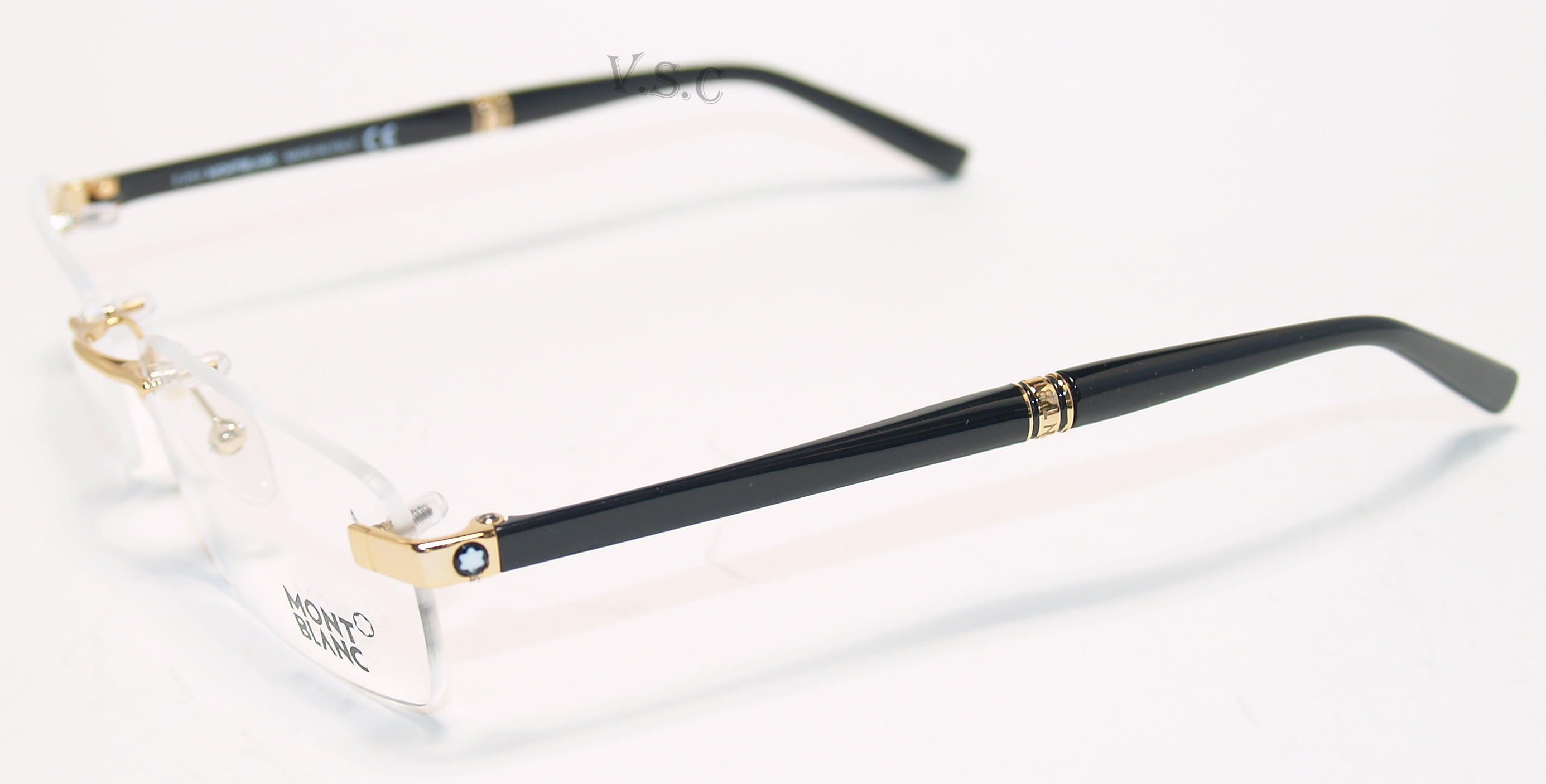 Gold Frame Rimless Glasses : MONT BLANC MB9101 EYEGLASSES MB 9101 PRESCRIPTION EYE ...
